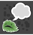 Background with little angry virus or monster vector image
