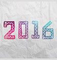 2016 grunge stamp new year sign vector image vector image