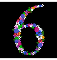 6 numeral vector image
