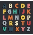 Abstract color alphabet vector image vector image