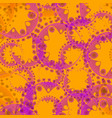 Abstract pastel seamless pattern of lilac gears