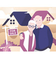 aged couple selling house vector image vector image