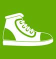 athletic shoe icon green vector image vector image