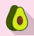 avocado fruit icon flat style vector image