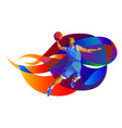 basketball player performs jump shot vector image