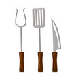 bbq tools collection colorful vector image