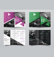 bifold brochure for business with a place for vector image vector image
