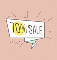big sale banner retro comic style vector image vector image