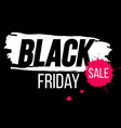 black friday banner with paint splash vector image