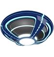 Blue neon UFO vector image