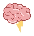 brain with lightning ray icon vector image