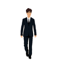 businessman in suit isolated vector image
