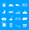 butter curl block icons set simple style vector image vector image