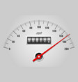 car speedometer dashboard vector image vector image