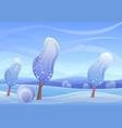 cartoon magic winter vector image vector image