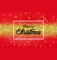 christmas background with golden confetti vector image