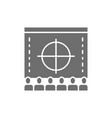 cinema screen with audience movie rental vector image