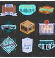 Color retro design insignias logotypes set vector image vector image