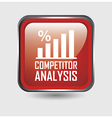 competitor analysis button over white background vector image vector image