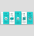 contest sport activity onboarding icons set vector image vector image