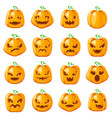 decoration halloween jack o lantern pumpkin scary vector image vector image