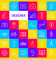 designer line icons vector image