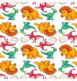 dinosaur on seamless pattern vector image vector image