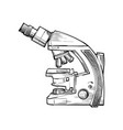 doodle style scientist microscope in format vector image