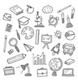 education icons doodle hand drawn vector image