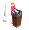 Election Infographic Politics Work Isometric vector image vector image