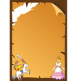fairytale frame vector image vector image