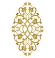 floral medallion for design vector image