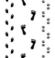 Footprints seamless vector image vector image