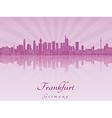Frankfurt skyline in purple radiant orchid vector image vector image