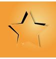 golden paper star vector image vector image