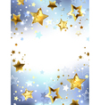 Golden Stars on a Light Background vector image vector image
