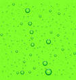 green bubbles water drop realistic background vector image vector image