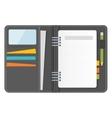 grey notebook organizer vector image vector image