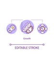 growth concept icon cell development and division vector image