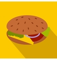 Hamburger icon in flat style vector image vector image
