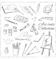 Hand drawn art tools set Isolated vector image vector image