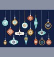 hanging glass balls set graphic elements vector image vector image
