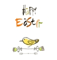 Happy Easter card design calligraphic text vector image vector image