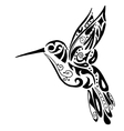 hummingbird for coloring or tattoo vector image vector image