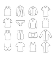 Icons clothes vector image vector image
