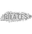 is pilates a new fitness trend right for you text vector image vector image