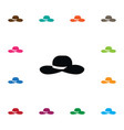 isolated broad brim icon fedora element vector image vector image