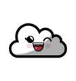 kawaii cloud icon vector image vector image