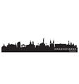 Krasnoyarsk Russia city skyline Detailed silhouett vector image vector image