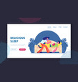 leisure and good night wishes website landing page vector image vector image